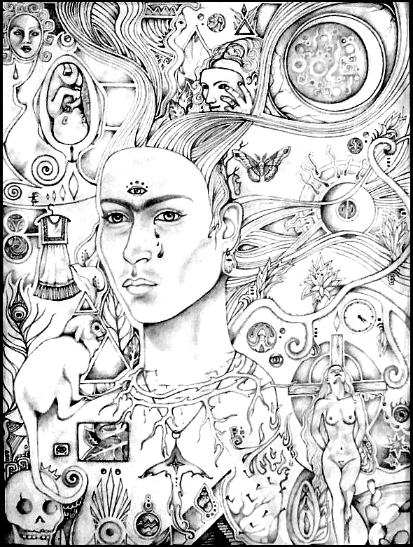 coloring pages download and print for free at 122 exciting frida ...