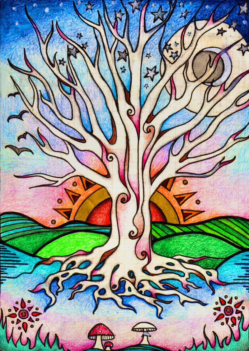 30 Easy Tree Painting Ideas that look Absolutely Stunning  Simple Tree Life Painting