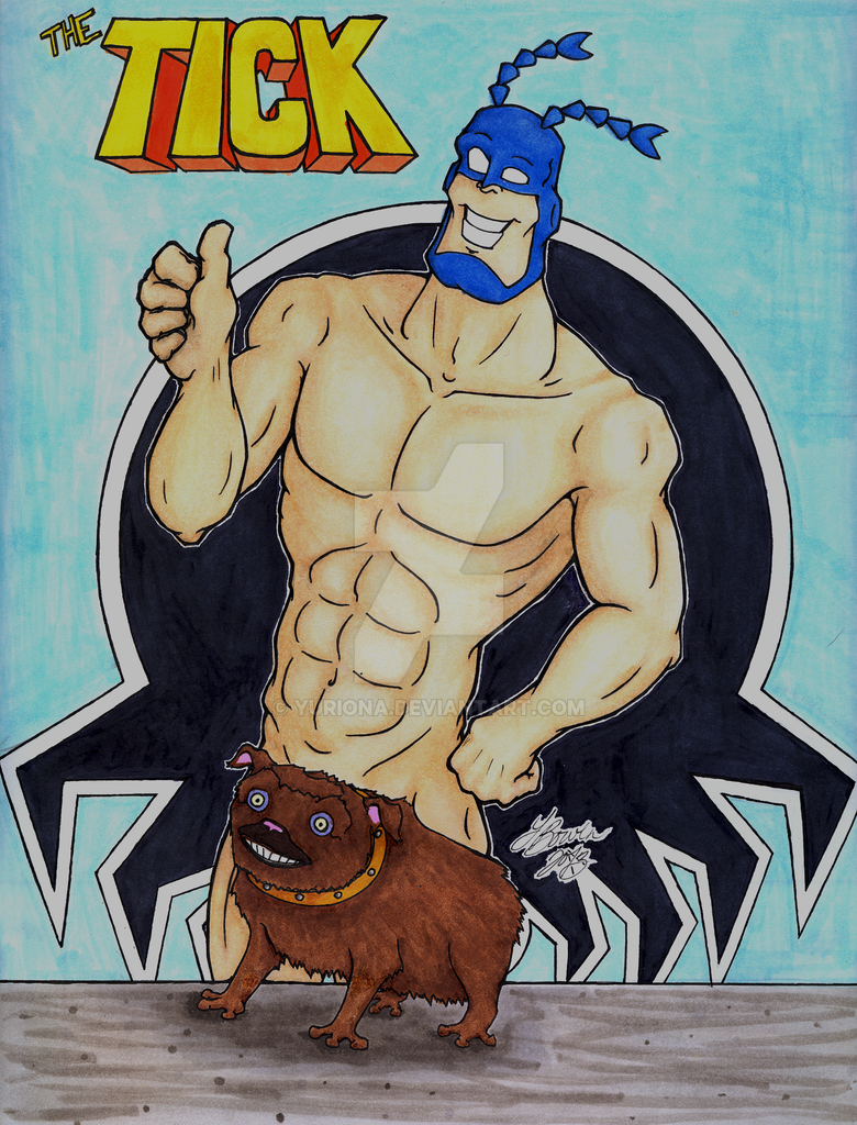 The Tick - Pinup by Yuriona
