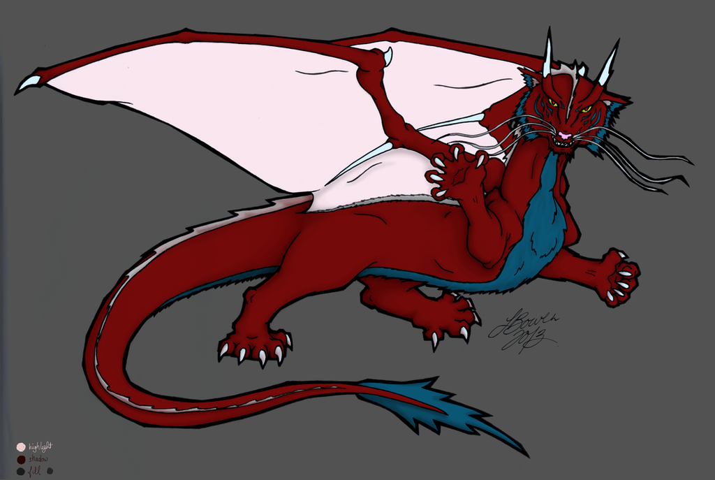 Dragon Design colour1 by Yuriona