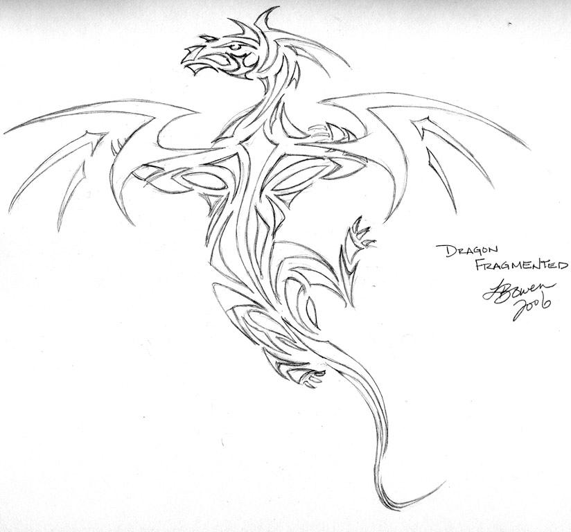 Dragon Fragmented - Pencil by Yuriona