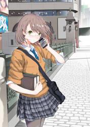 Girl in Akihabara by technofuyuno