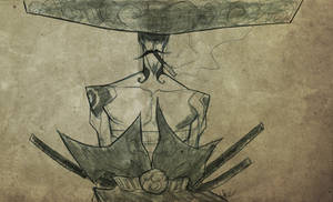 Mariachi Samurai Sketch by Desoluz