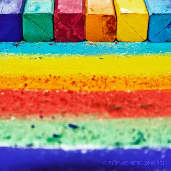 chalk rainbow by SaphoPhotographics