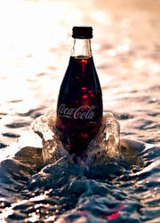 coke in the surf by SaphoPhotographics