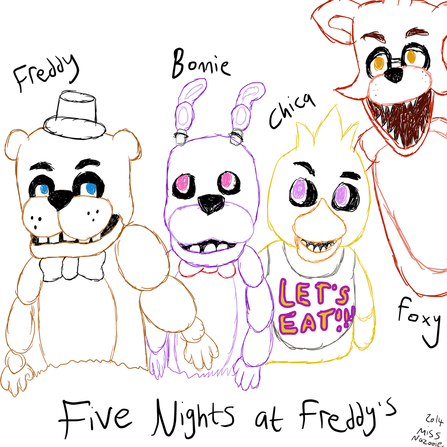 Five nights at freddys coloring pictures printable elhouz
