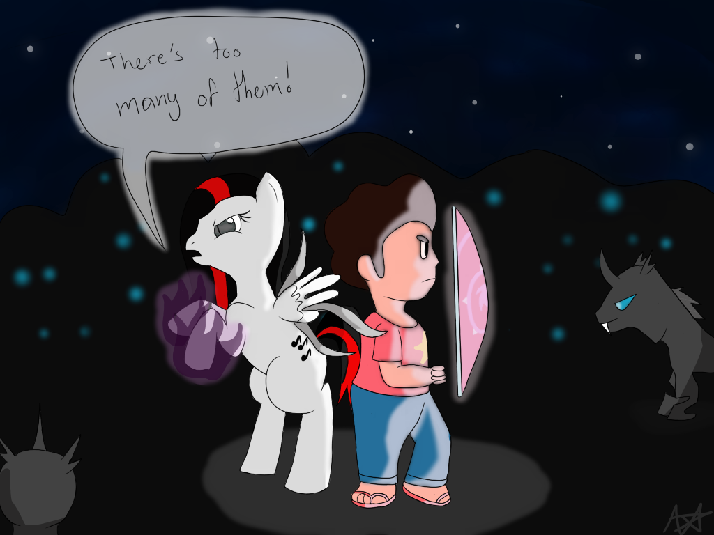 Moonlight Shimmer and Steven by Suzuki--Yuki