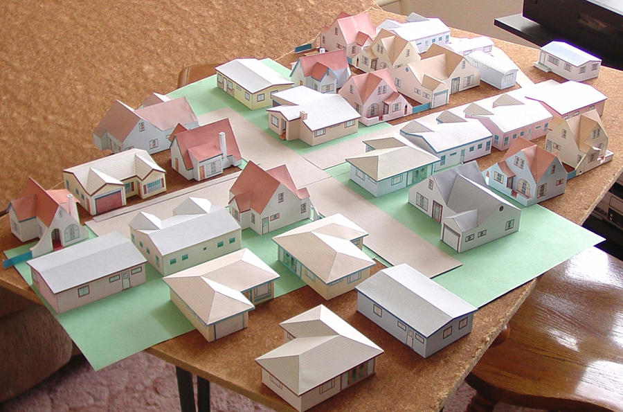 Paper house models to download print and build by for How to build a house online