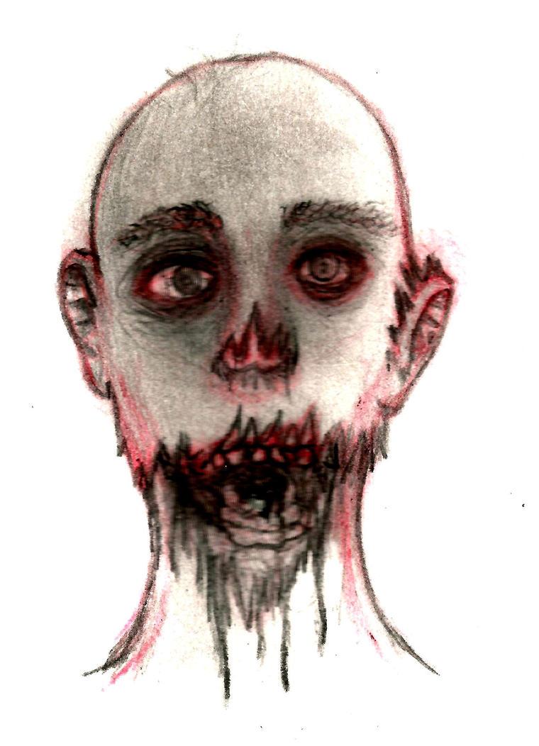 zombie sketch by alfredkirkland1212