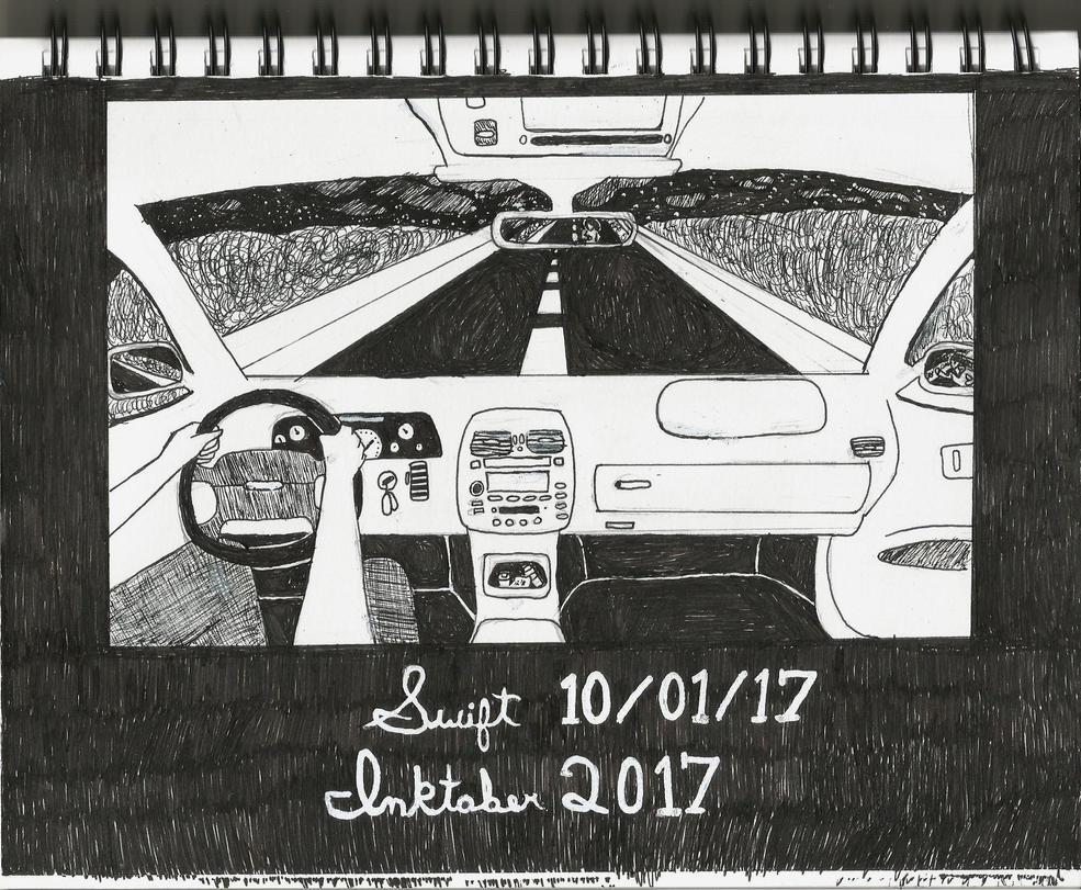 Inktober 2017 day 1 Swift by alfredkirkland1212
