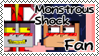 Monstrous Shock fan stamp by FabyTetrix