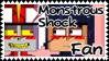 Monstrous Shock fan stamp by FabyTetrix