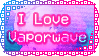 I Love Vaporwave Stamp by Pineappa