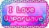 I Love Vaporwave Stamp by Pineappa