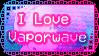 I Love Vaporwave Stamp by FabTendo