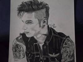 Andy Biersack black and white by xxdaswarwohlnix