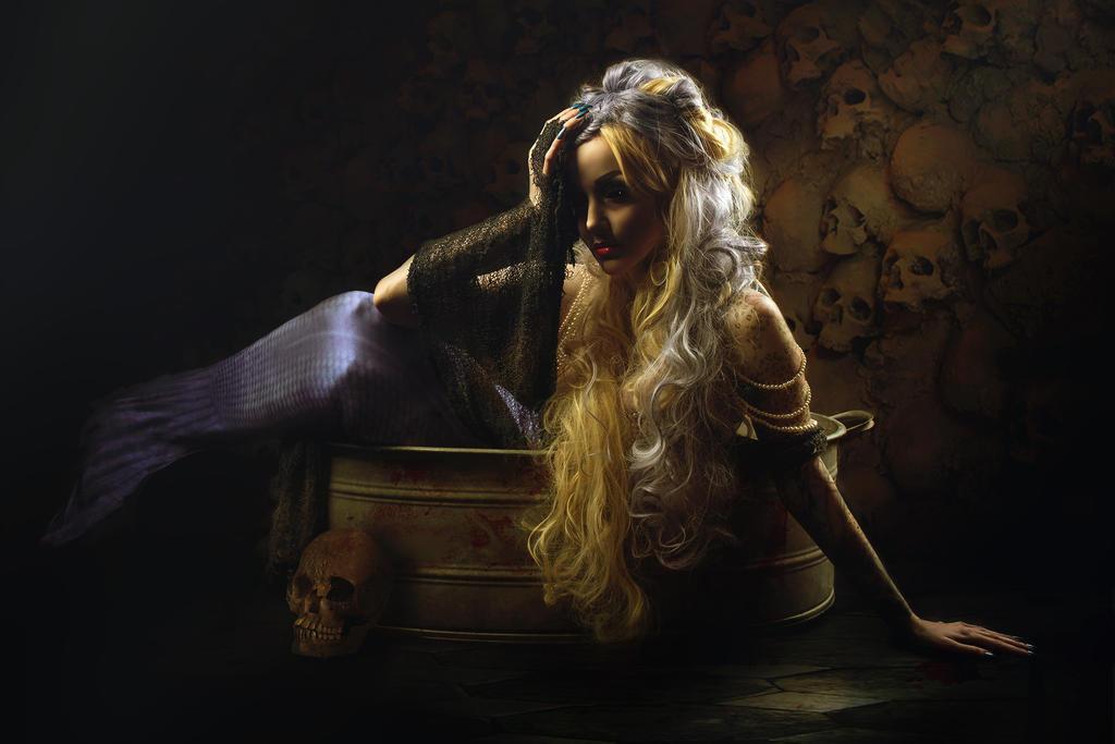 Morbid mermaid II by Philaeria