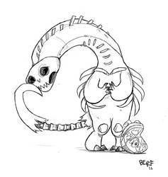 Bone monster by berf