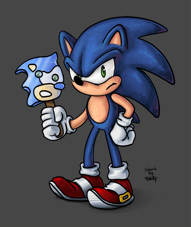 TsaoShin's Sonic colored! by berf