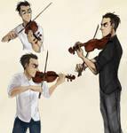 Violin sketchdump by MMakku