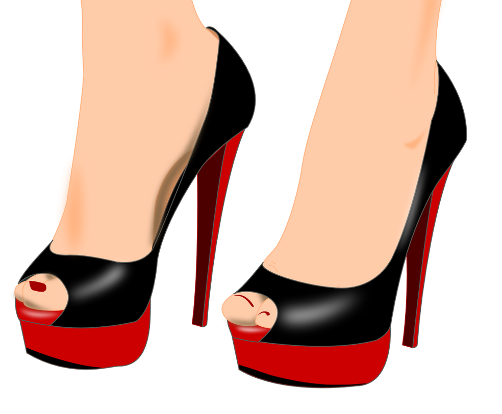 Black With Red Heels