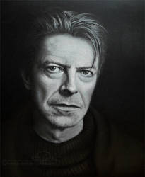 DAVID BOWIE - drawing (pastel) by b-Dedi