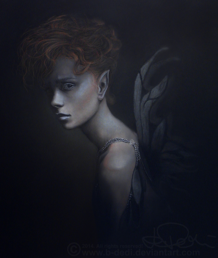 THE FALLEN (drawing - pastel) by b-Dedi