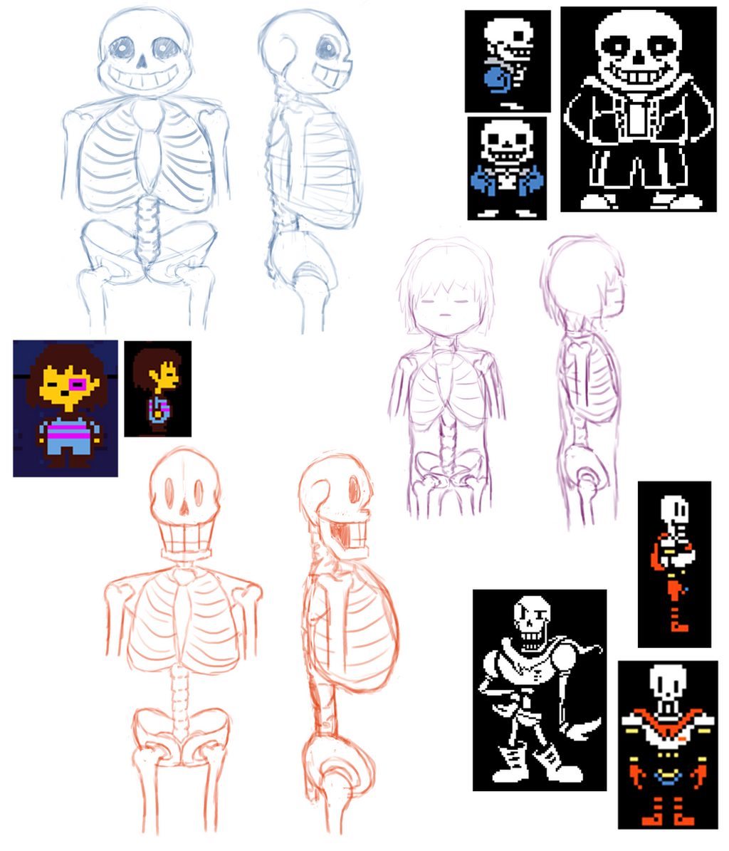 Undertale Skeleton Anatomy By Music Lover707 On Deviantart