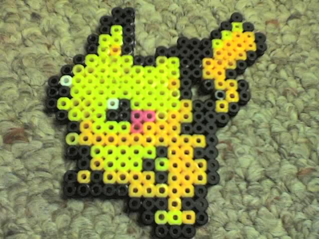 Pikachu by Ravenfox-Beadsprites