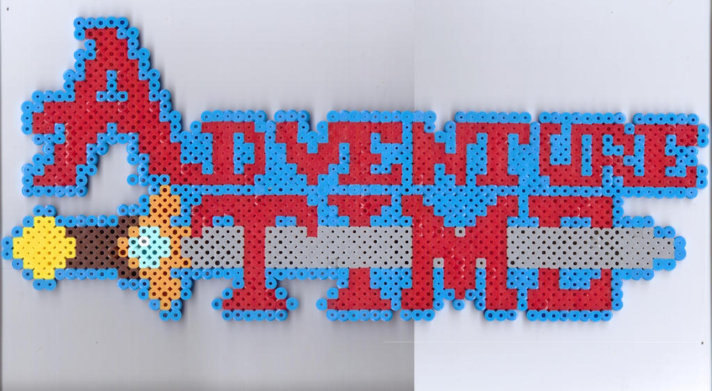 Adventure Time Logo by Ravenfox-Beadsprites