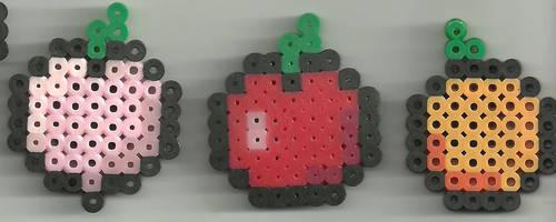 Mini Fruits by Ravenfox-Beadsprites
