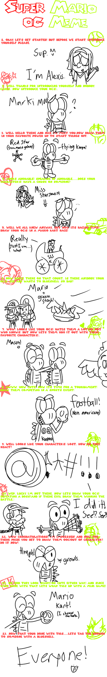 Mario OC meme /w Mark by CrazyStarlightRene01