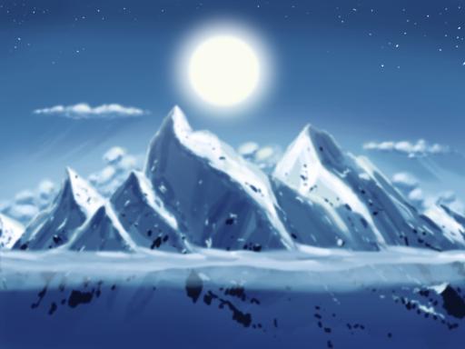 Moon. Mountains. Mmm. by ThreeFlowersInOne