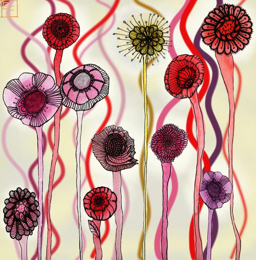 Waterflowers by Fridayfelts