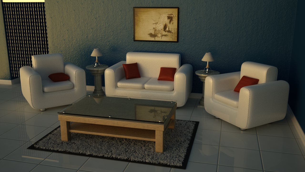 Interior scene first vray render by skweed03 for Vray interior scene