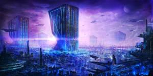 Sci-Fi Metropolis by ZhouJiaSheng