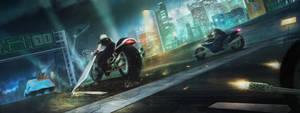 Final Fantasy VII - Motorbike minigame by ZhouJiaSheng