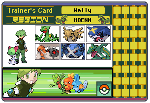 Wally Trainer Card ( My Emerald Team ) by 658z743z