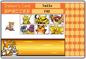 Tails Trainer Card by 658z743z