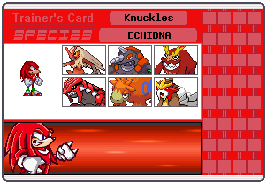 Knuckles Trainer Card by 658z743z