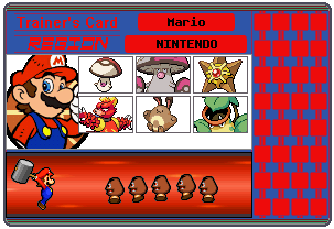 Mario Trainer Card by 658z743z