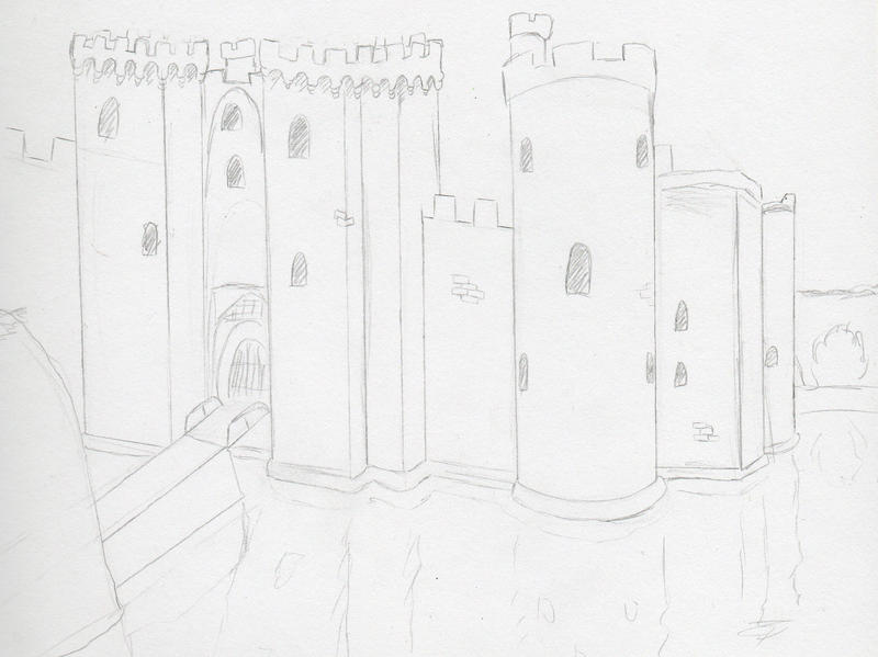 Bodiam Castle by MineralRabbit