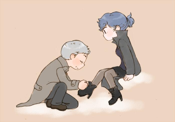 G.Lestrade+Shirley Holmes by twosugars16