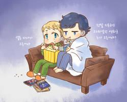 Watching DVD by twosugars16