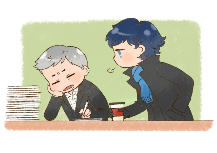 [BBC SHERLOCK] Lestrade x Sherlock by twosugars16
