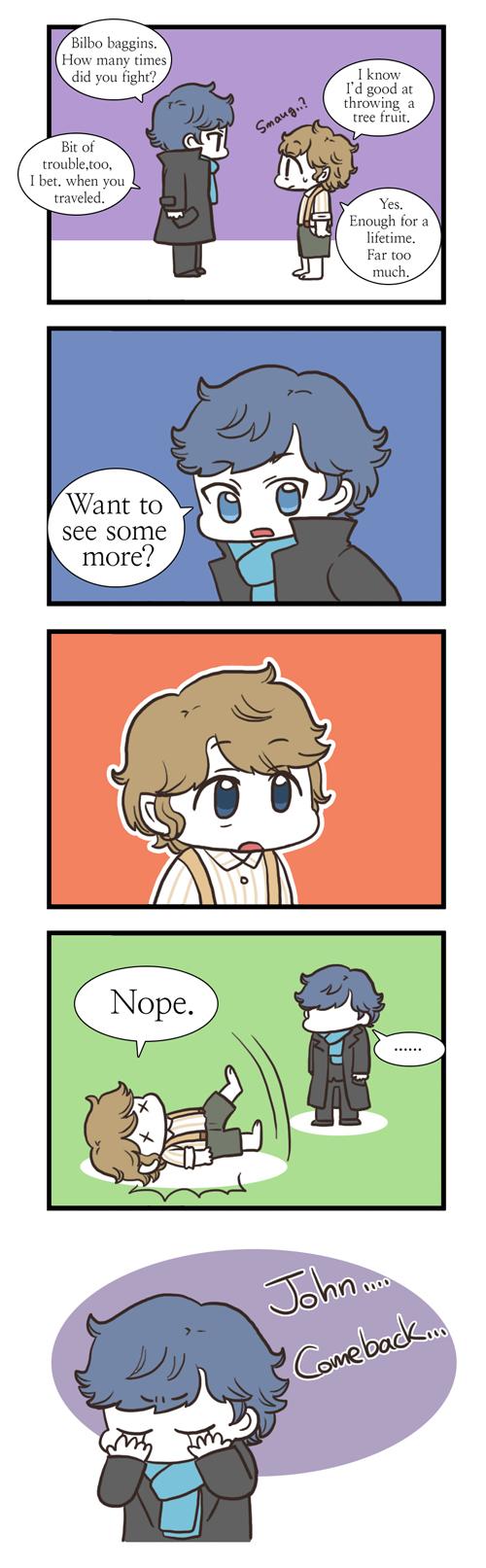 [CROSSOVER] Sherlock meet Bilbo by twosugars16