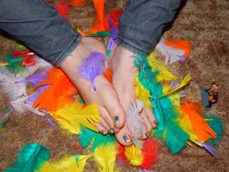 Rainbow Feet by FootCandy