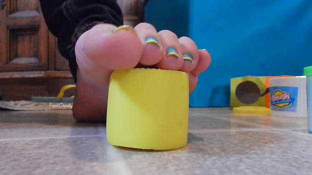 Stepping on Play Doh 2