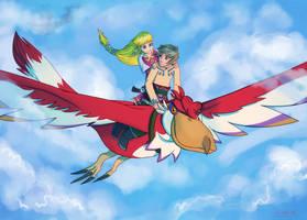 Skyloft Flight by Makirou