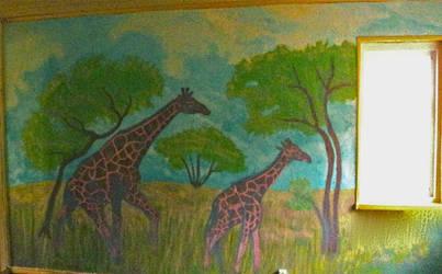 2011May- wip,Mural painting 1